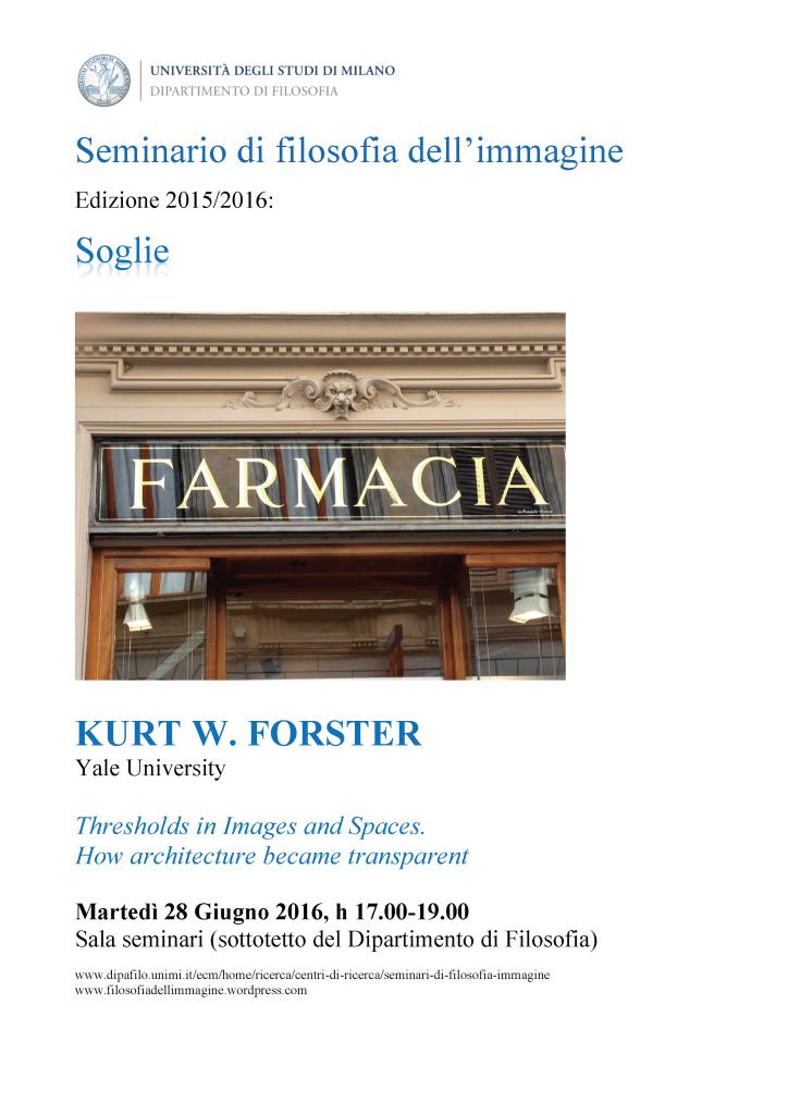 Locandina 2016 - 18. FORSTER